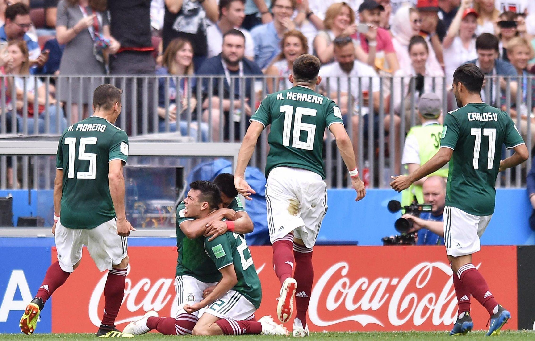 Lozano was the match winner halfway through the first half