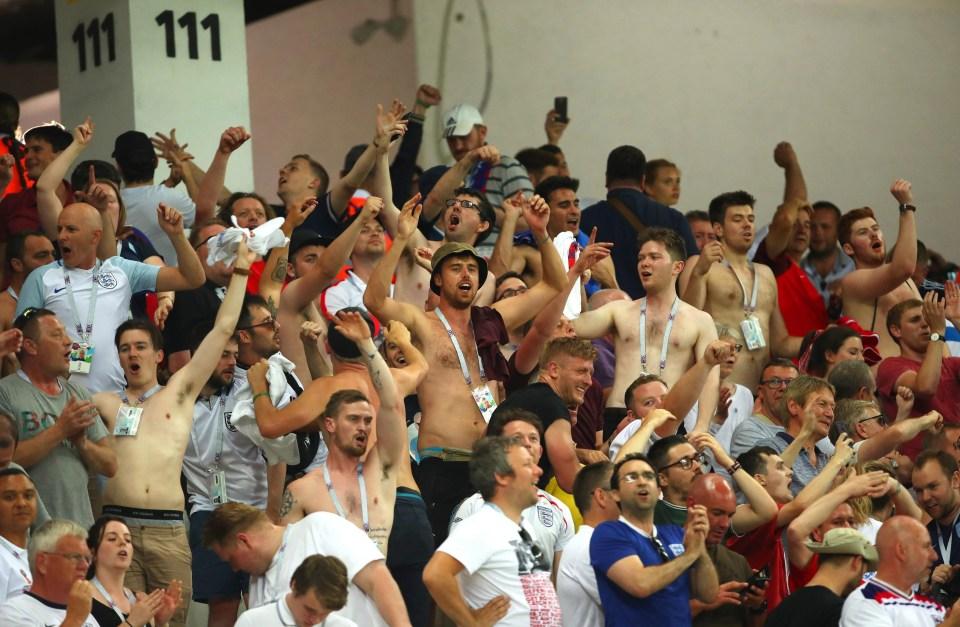 England fans in Volgograd
