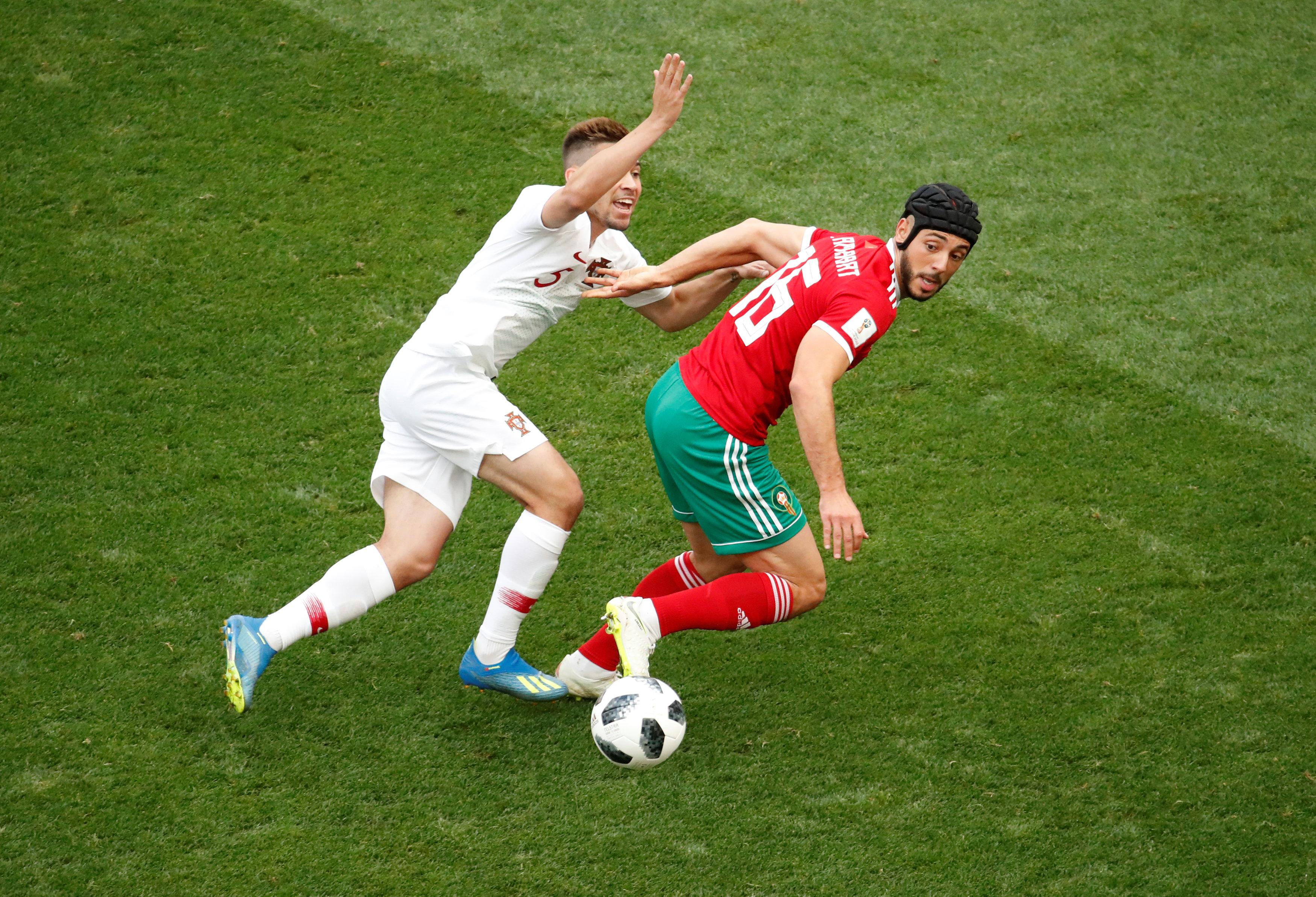 The winger in action against Portugal
