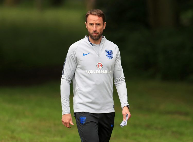 A healthy Southgate just moments before it happened