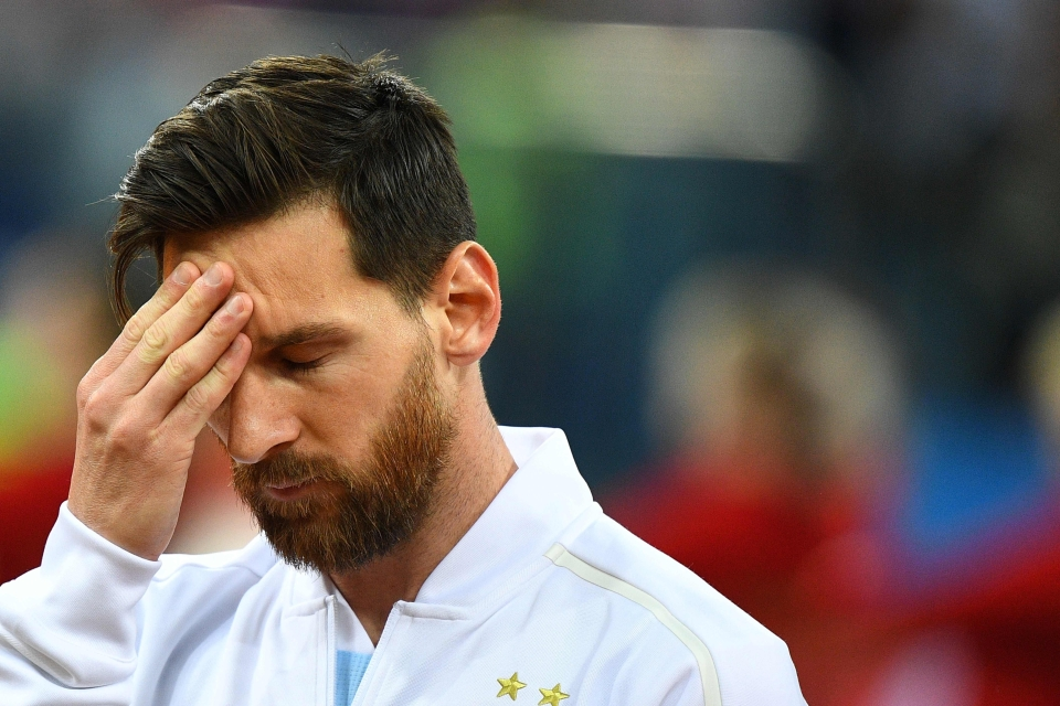 Messi seemed to know before the game it would all end in tears