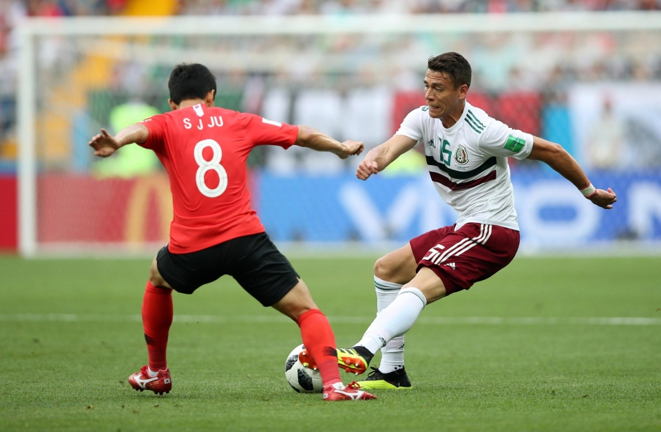 Ju Se-jong in action against Mexico