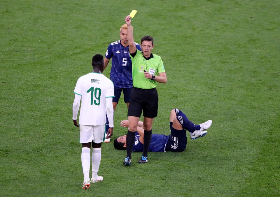 The first of his two yellow cards came against Japan