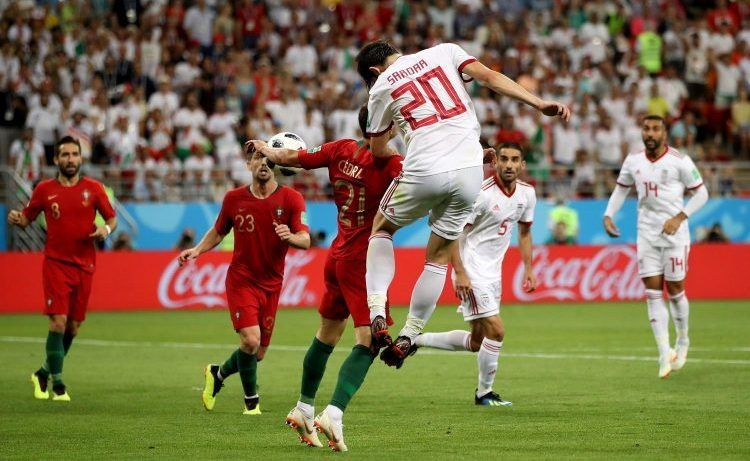 This is the moment that Iran were given a penalty for