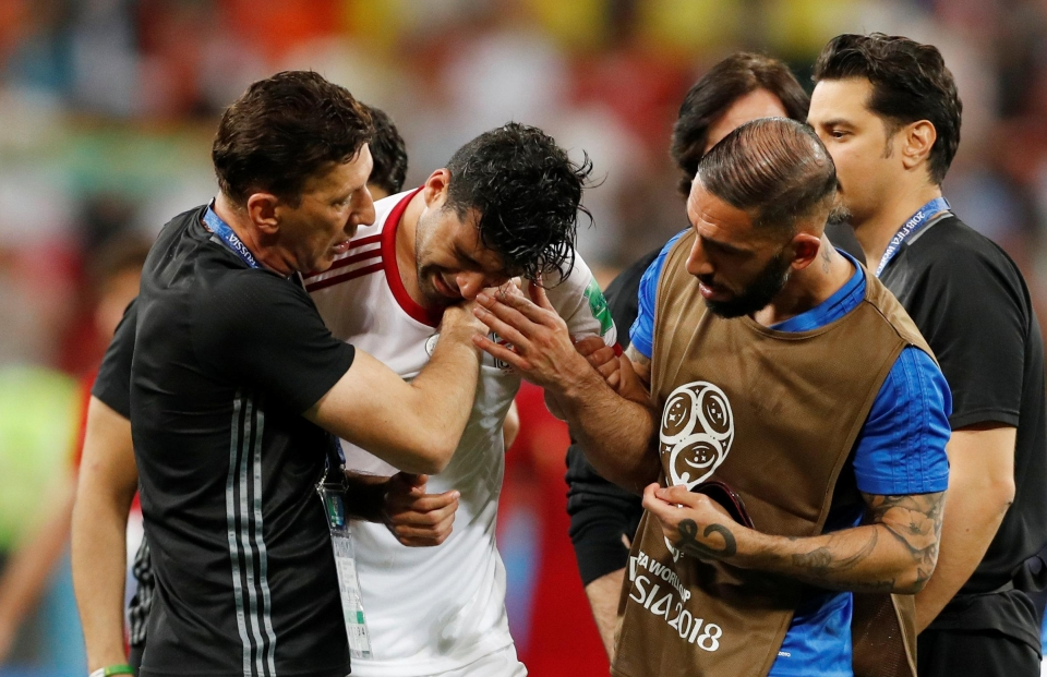 Amiri couldn't hold back the tears after the final whistle