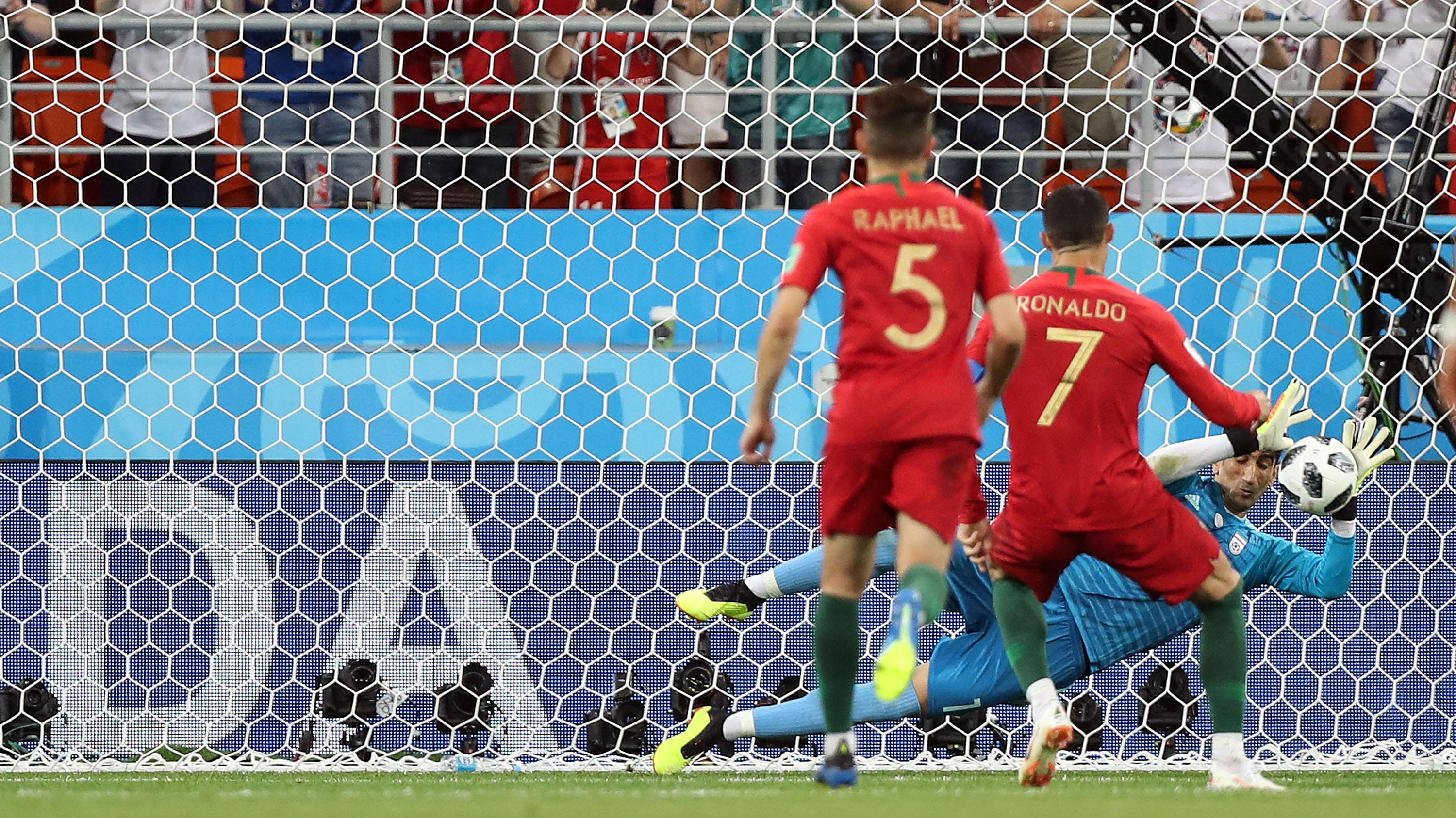 They saved a Cristiano Ronaldo penalty, FFS