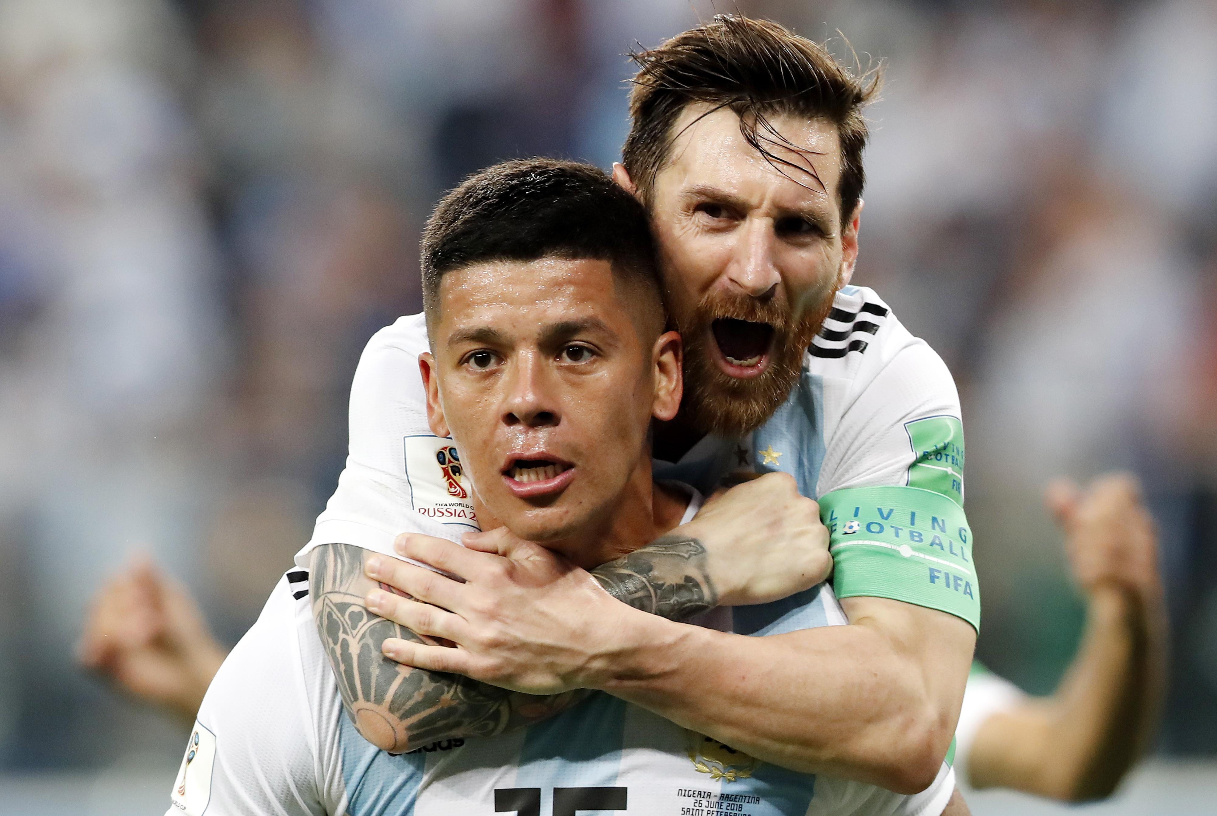 A joke about Messi being carried instead of carrying his team-mates