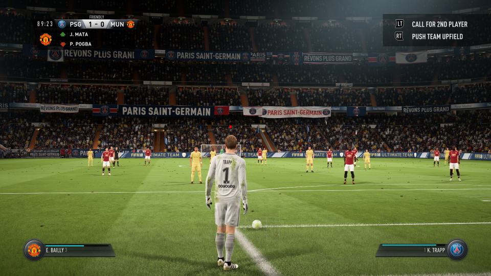 FIFA 18's view is restricted and hard to gauge distance