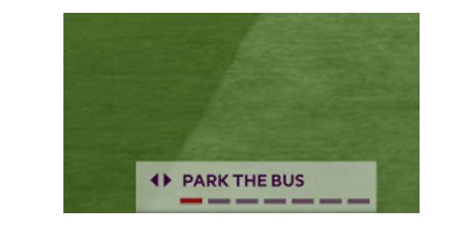 The 'Park the bus' option was often deployed by lesser players who wanted to cling to a win