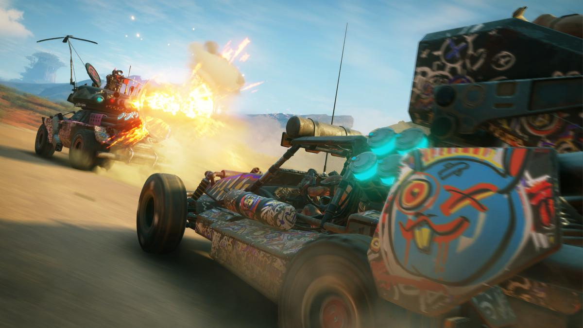 Vehicle combat is something Avalanche specialise in – it'll play a big part in RAGE 2
