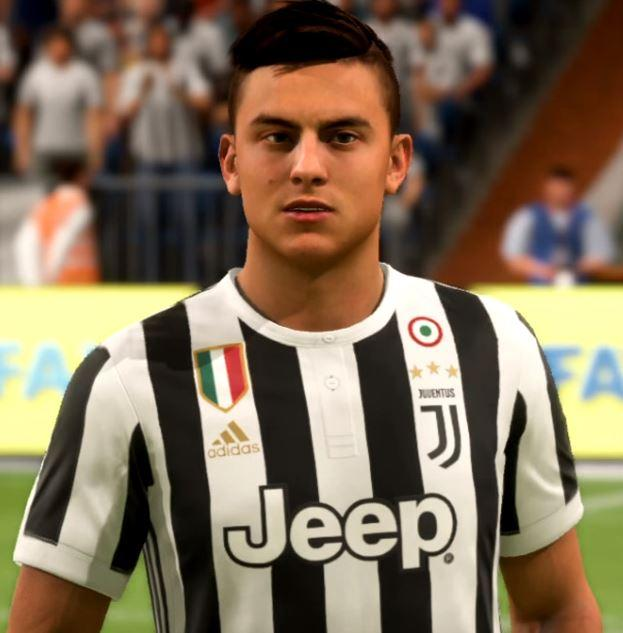 Here's the Juventus man in FIFA 18 – spot the difference?