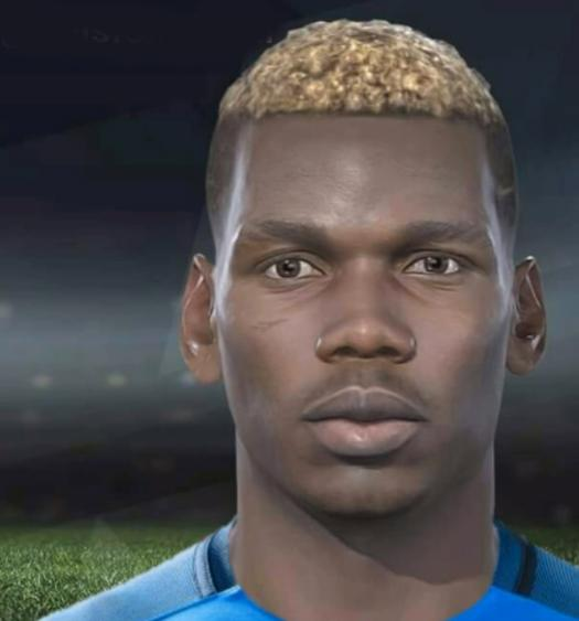 Pogba in PES 2018 – far less detailed