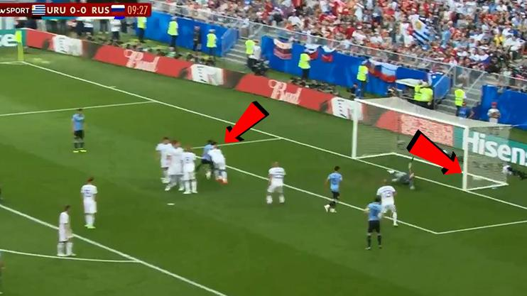 But the movement creates a gaping hole for Suarez to find