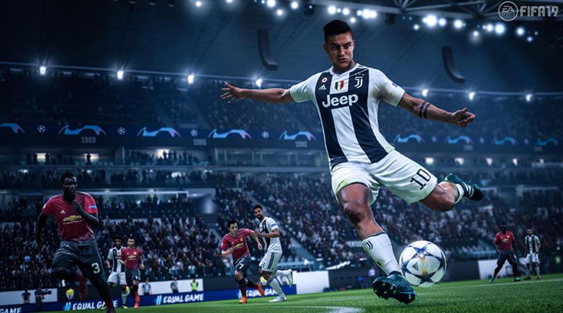 Paulo Dybala in action in the new FIFA