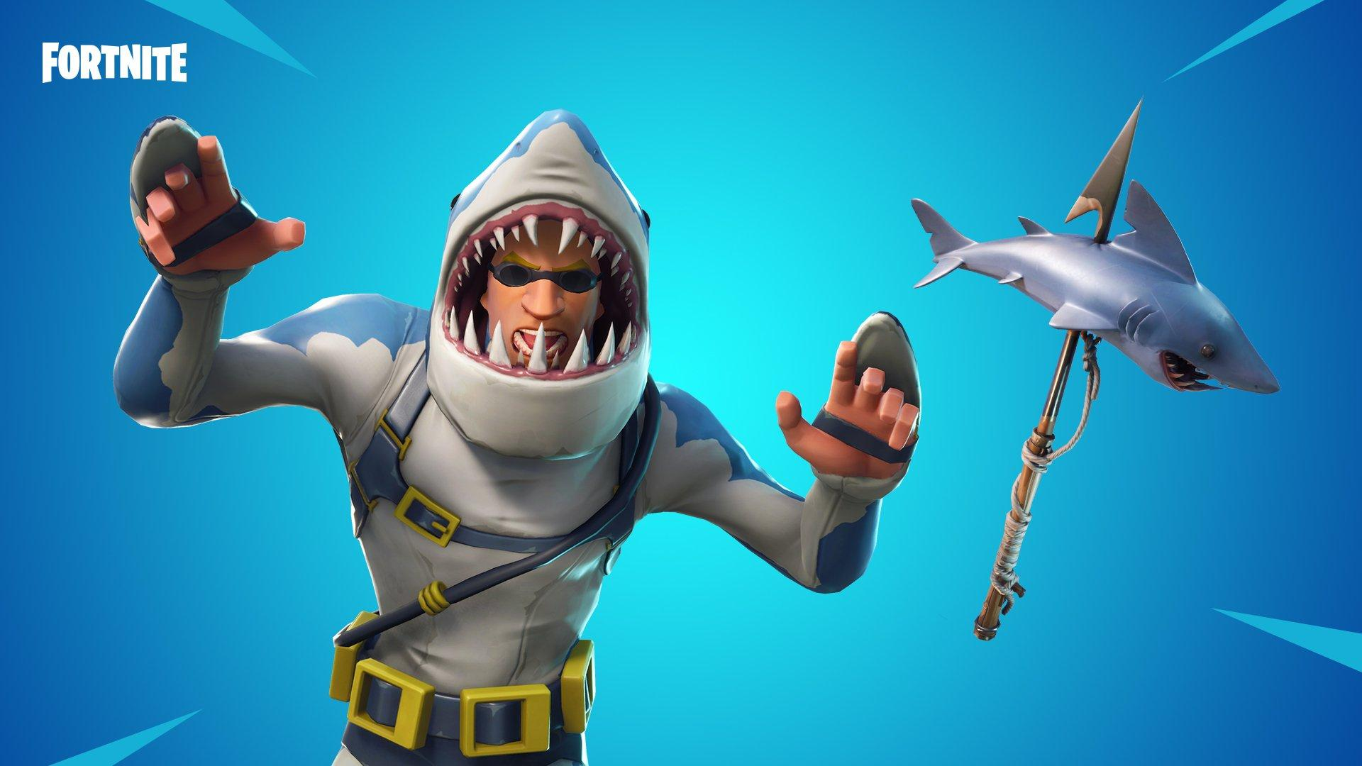 The new Chomp Sr. outfit with matching pickaxe