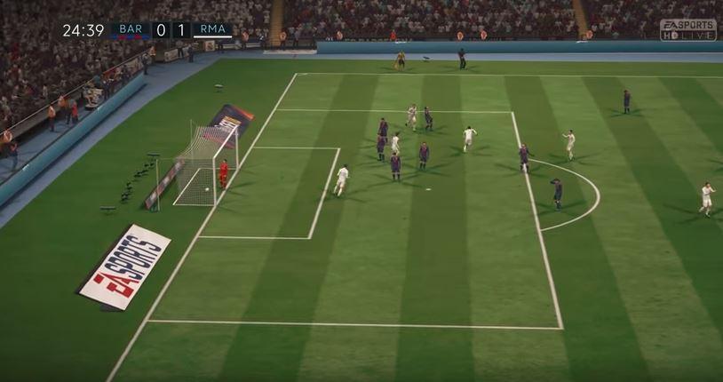 Ronaldo netting the ball