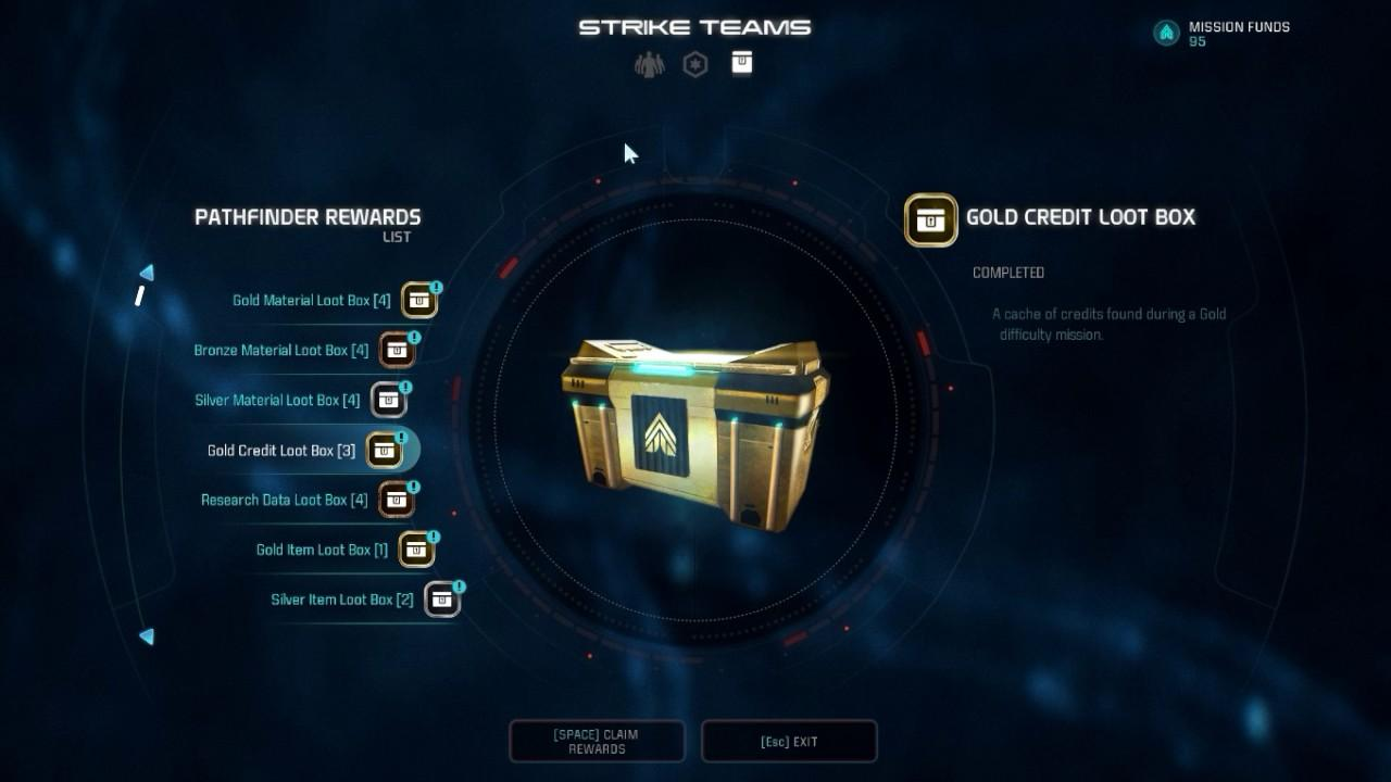 Mass Effect 3 contained loot boxes at launch in 2012