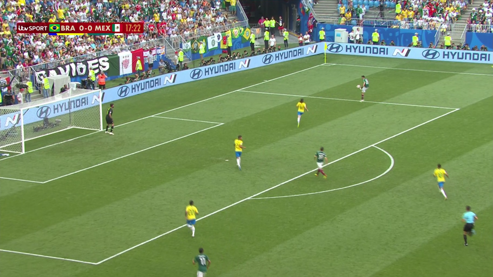 Believe it or not, Brazil had a corner 10 seconds ago…