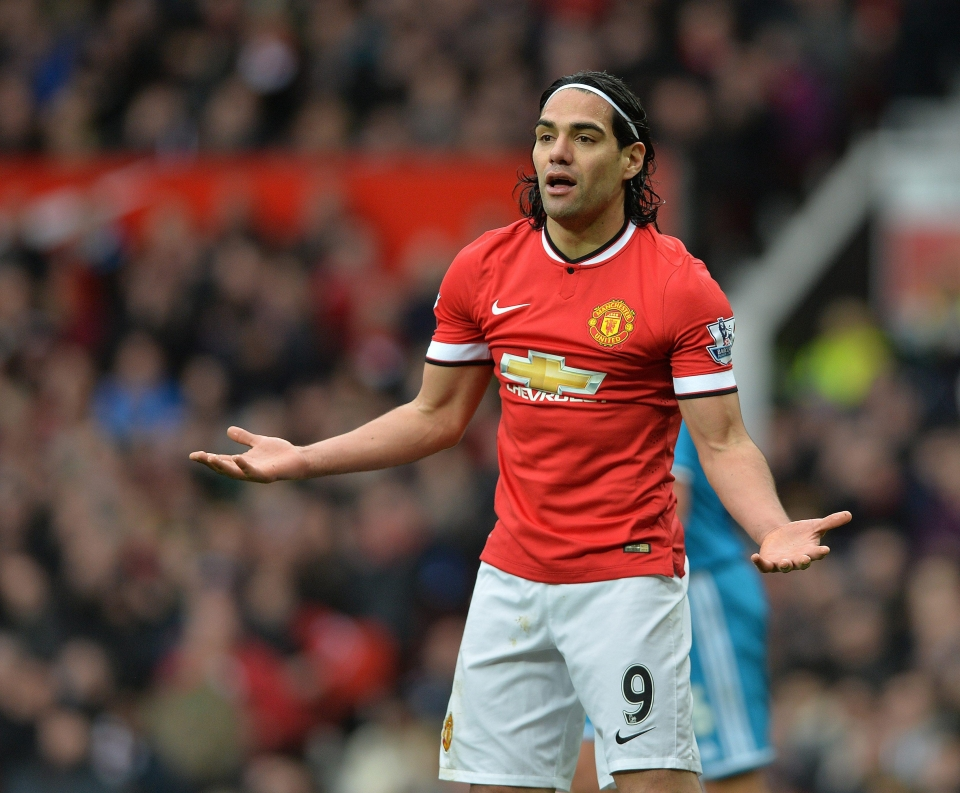 Falcao struggled to get to grips with English football