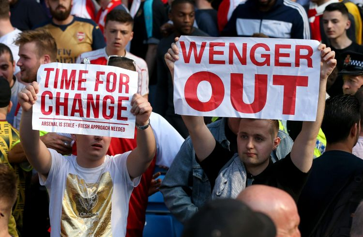 There's not enough Wenger Out signs around anymore