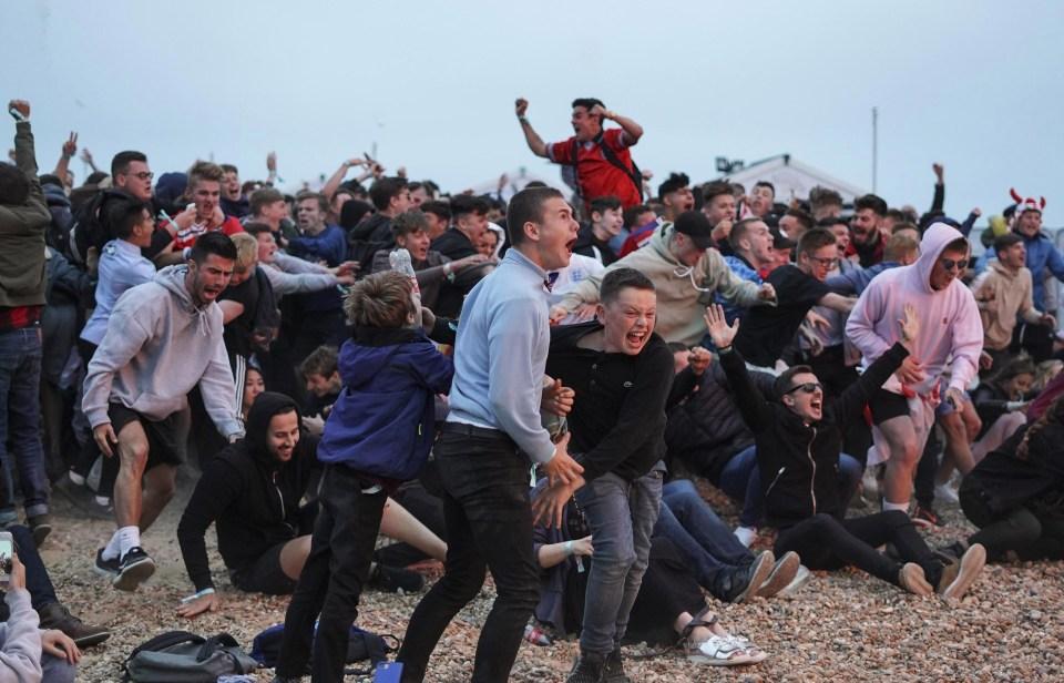 Biblical scenes on Brighton beach