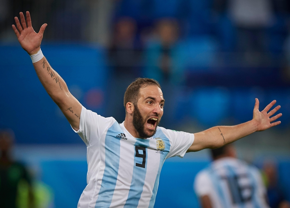 Argentina striker Higuain could be on his way out of Juventus to make way for Ronaldo's arrival