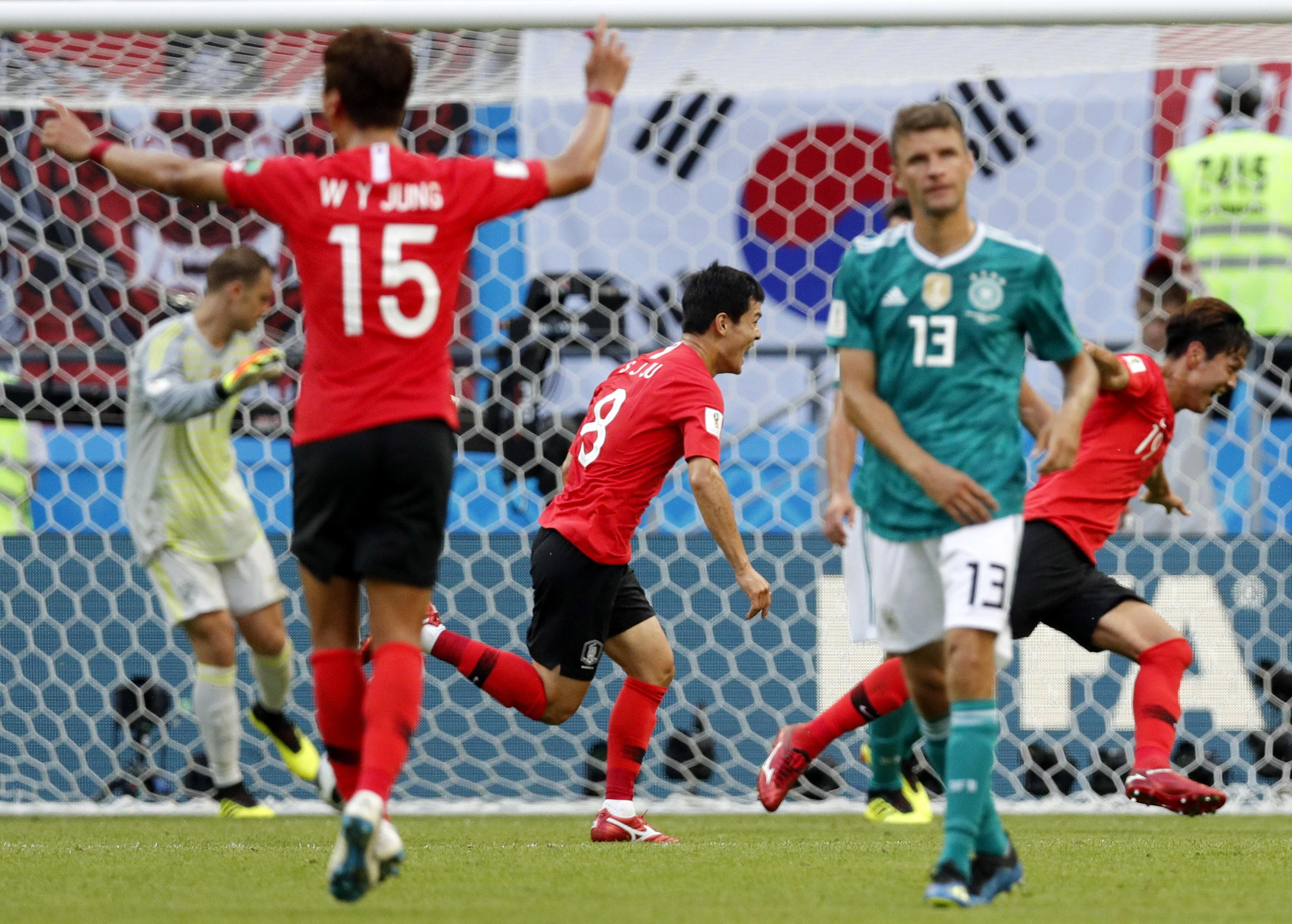 Just your hourly reminder that South Korea beat the defending champions Germany