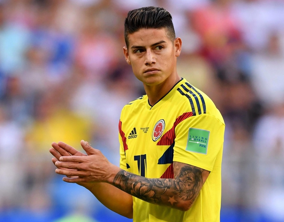 James Rodriguez starts for Colombia... s**t!