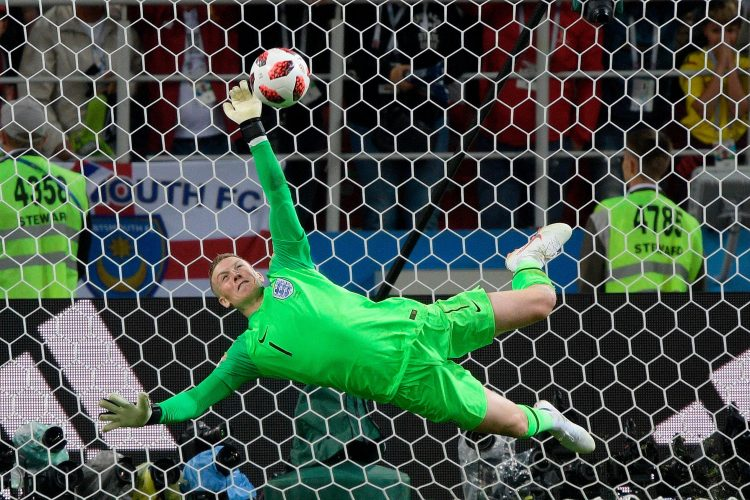 An England goalkeeper saving a penalty, pinch me