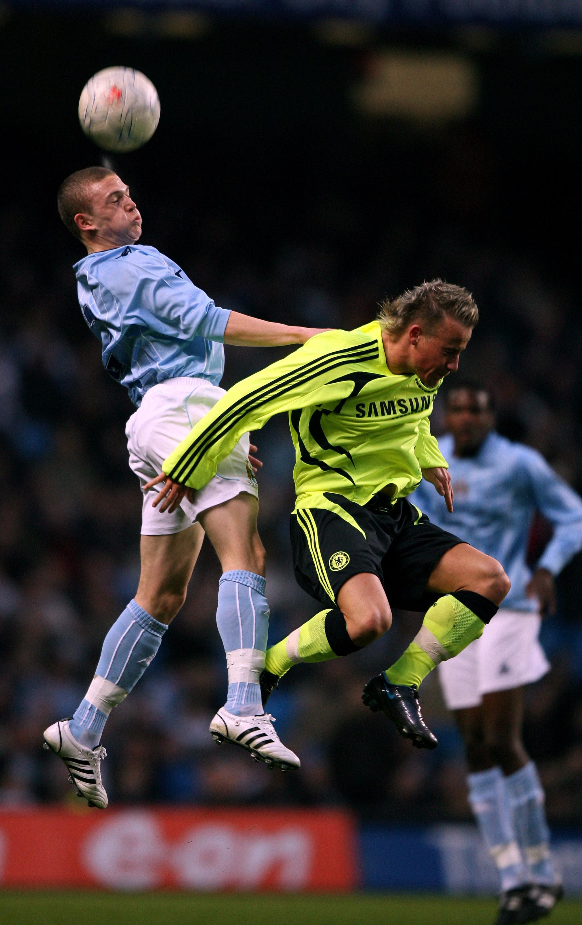 There's a prize on offer for whoever can name that Chelsea player he's challenging with