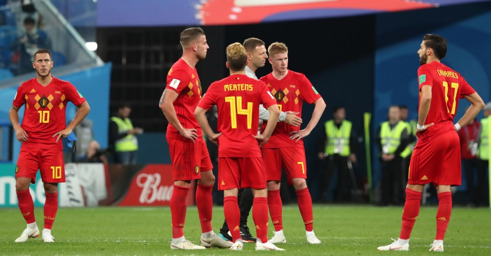 The Belgium players remained emotionless