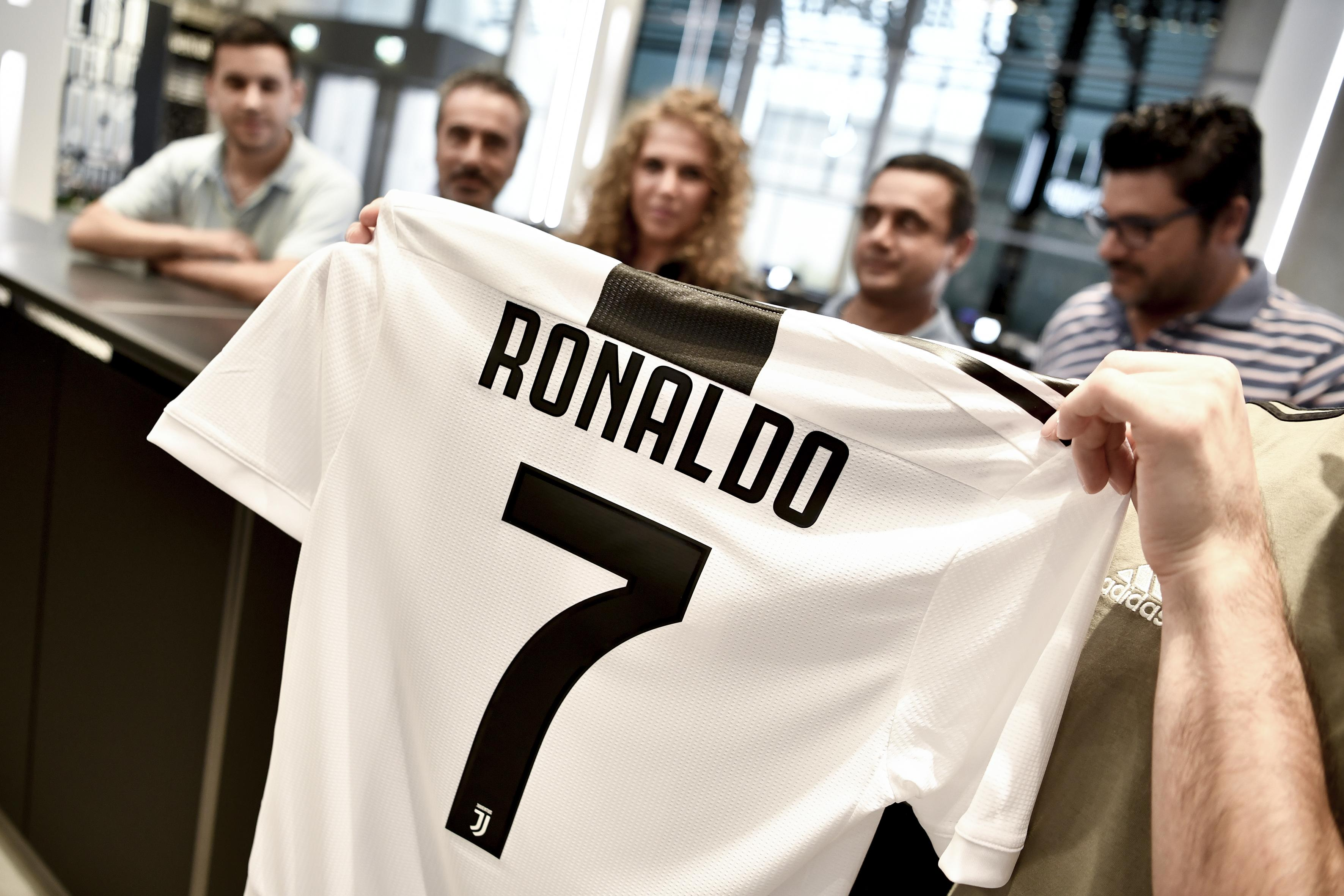 CR7 shirts are now flying off the racks in Turin