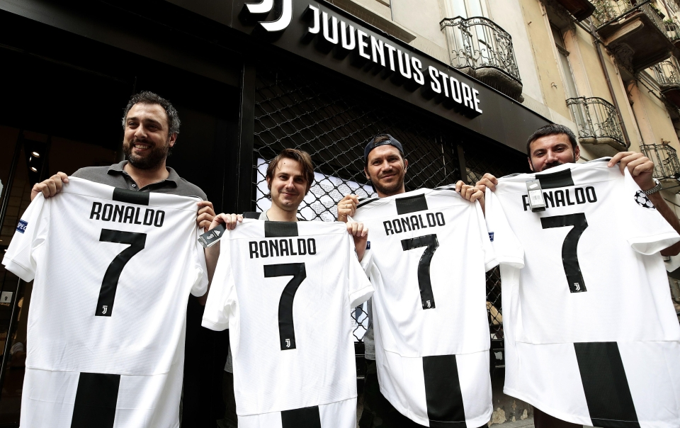 Juve are selling a Ronaldo shirt every minute at the moment