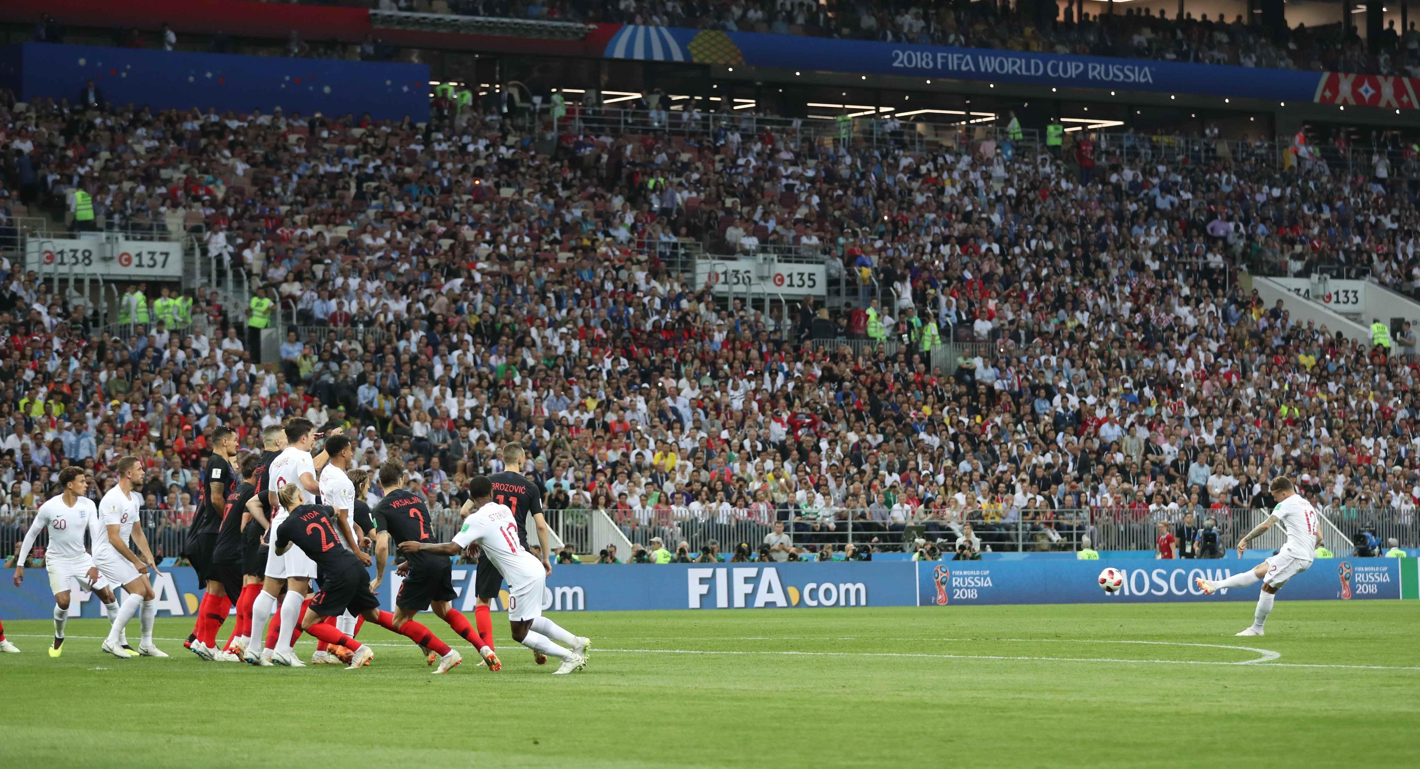 Kieran Trippier put England ahead with a great free-kick