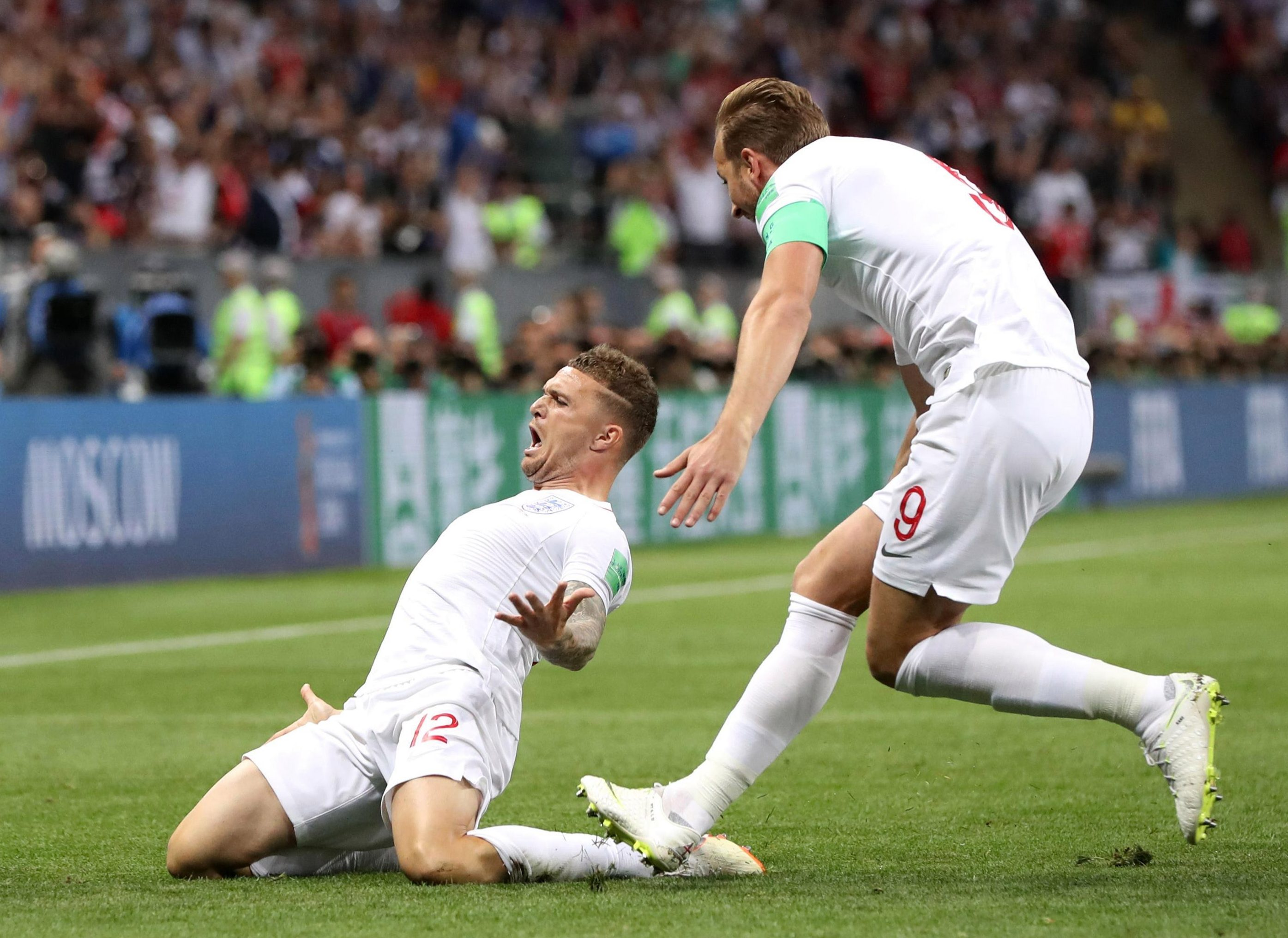 Trippier slides in celebration and a nation can scarcely believe it