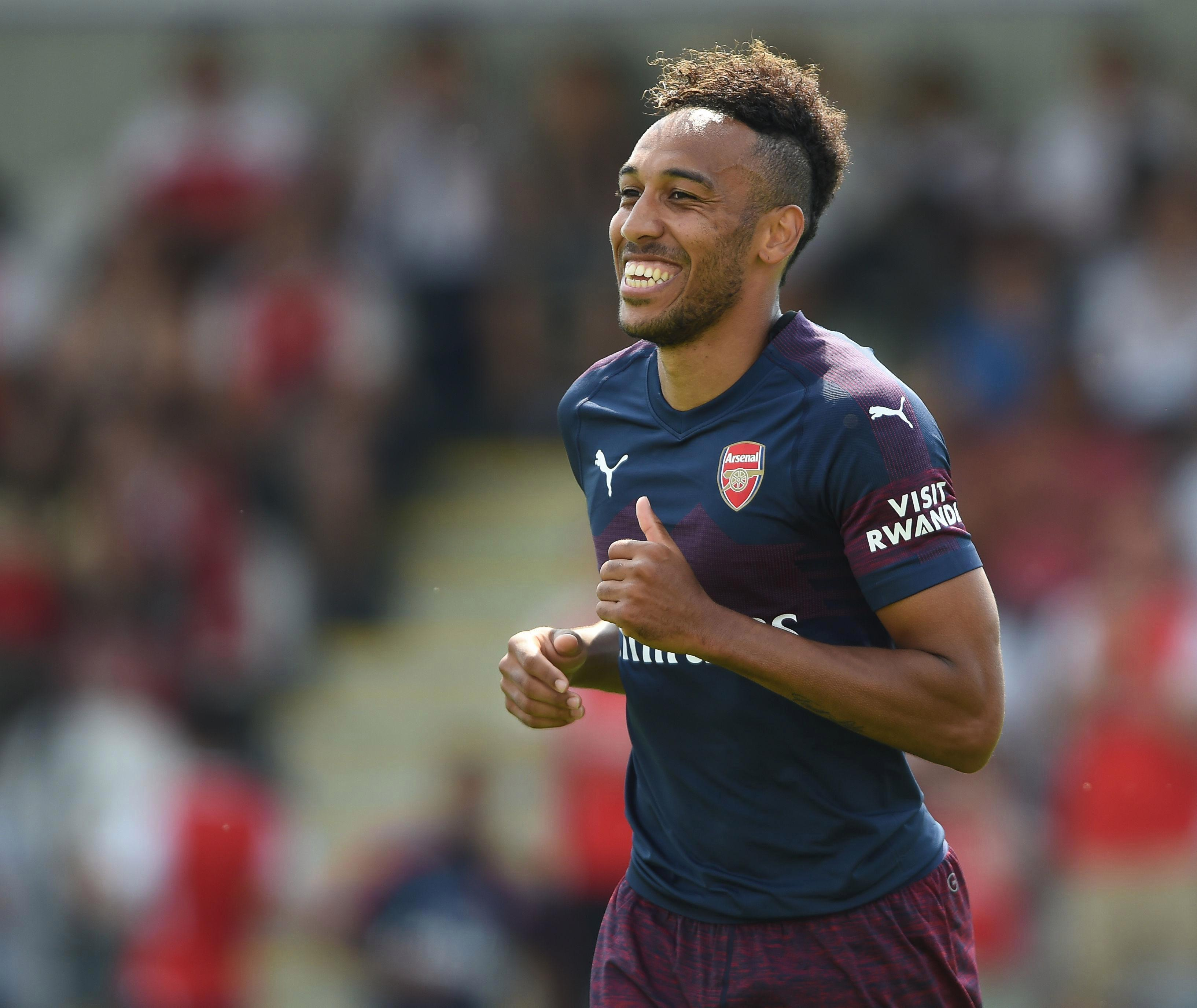 Aubameyang kicked off the Unai Emery era with a hat-trick against Boreham Wood