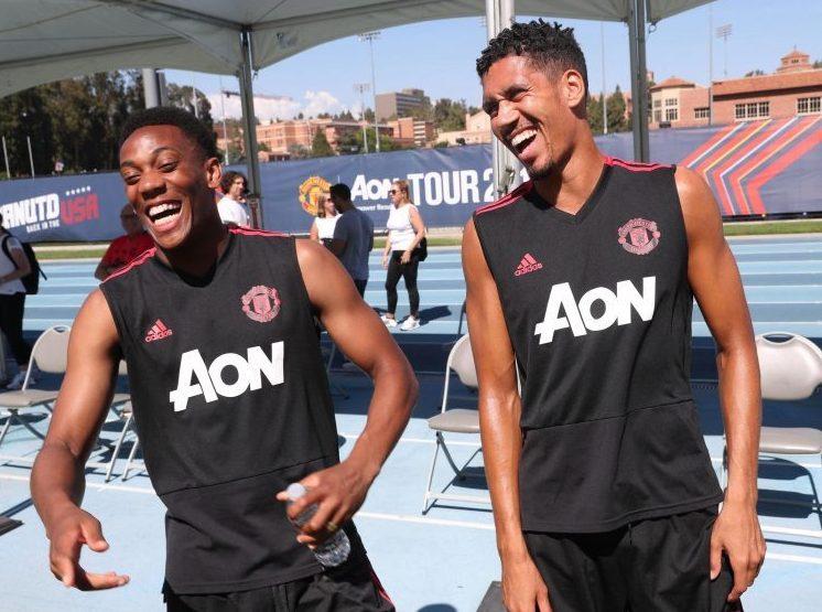 No smiling lads