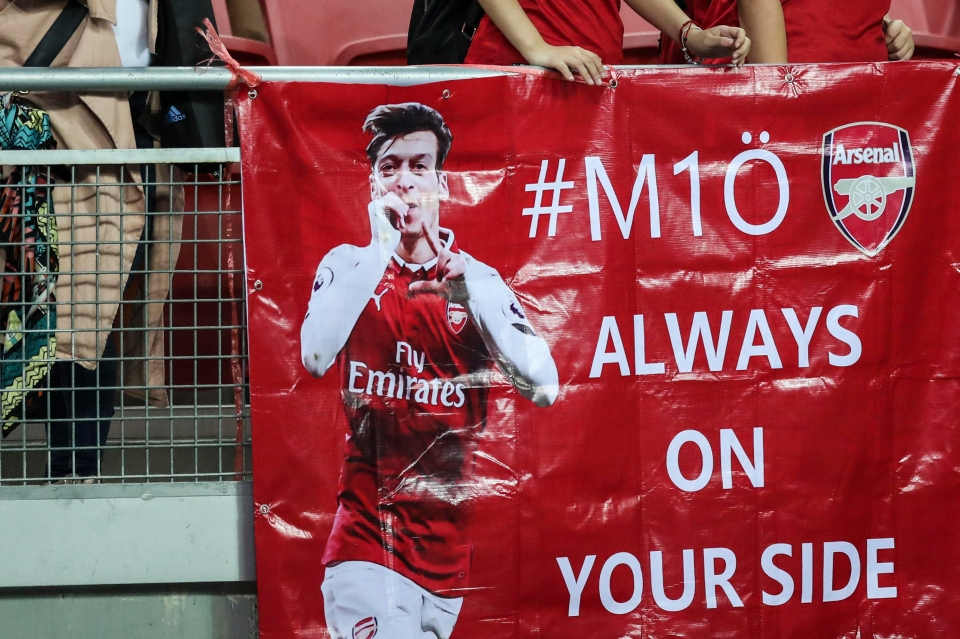 Arsenal fans are making him feel welcome and wanted