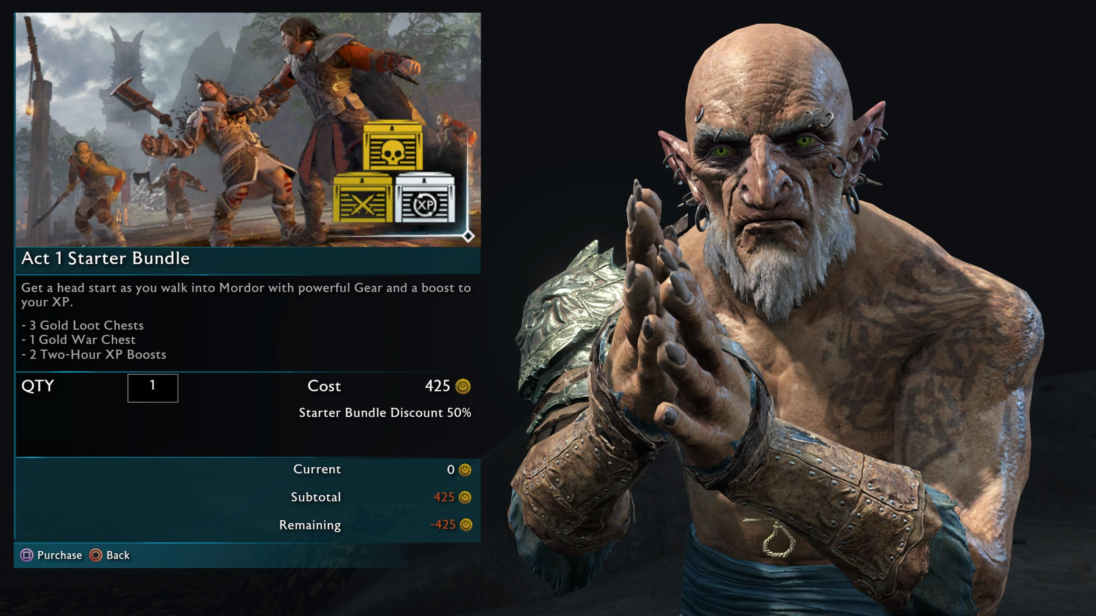 Shadow of War controversially introduced loot boxes into their single player title