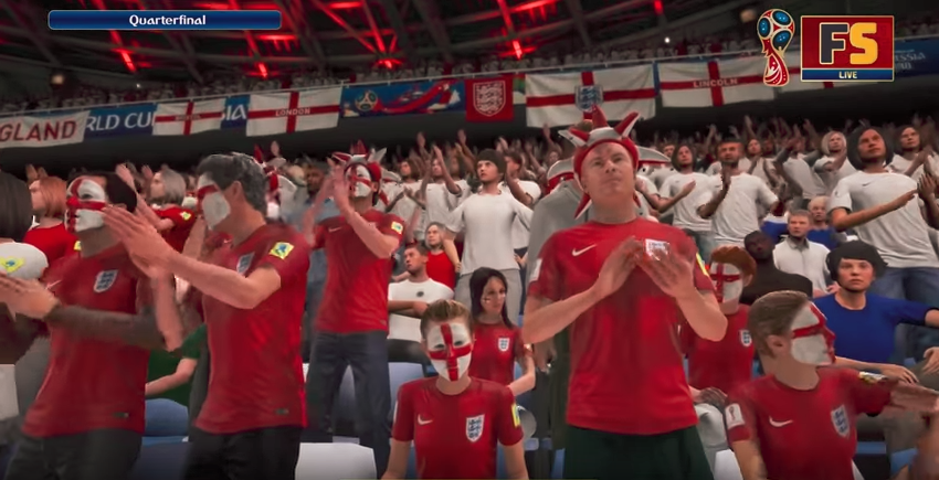 England fans looking enthusiastic with the win in sight