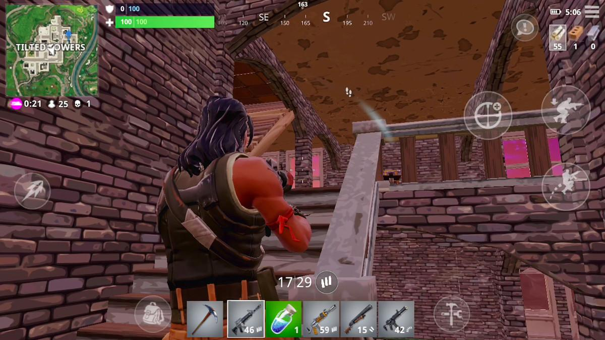 Fortnite mobile gives players visual cues on enemy locations