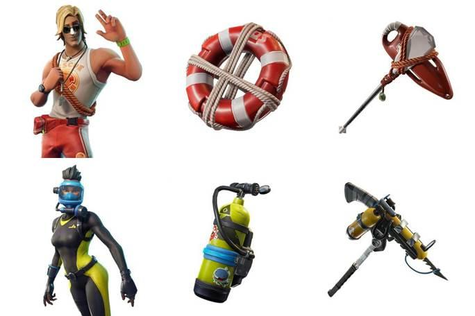 Water-themed leaked skins for later in season 5