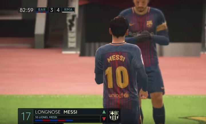 Lionel taking a rest to let Messi come on