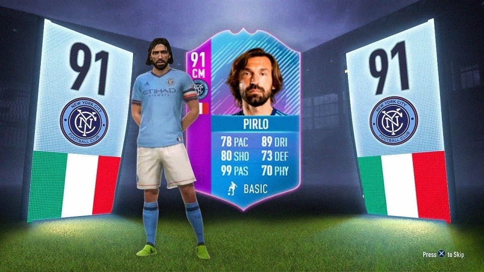 Andrea Pirlo is one of the stars to get one of the coveted purple cards