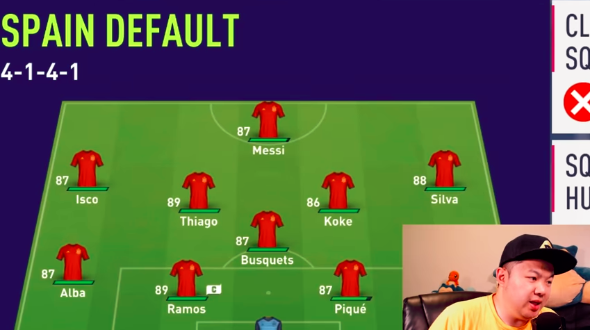 Messi's double playing for Spain in the FIFA 18: World Cup Mode