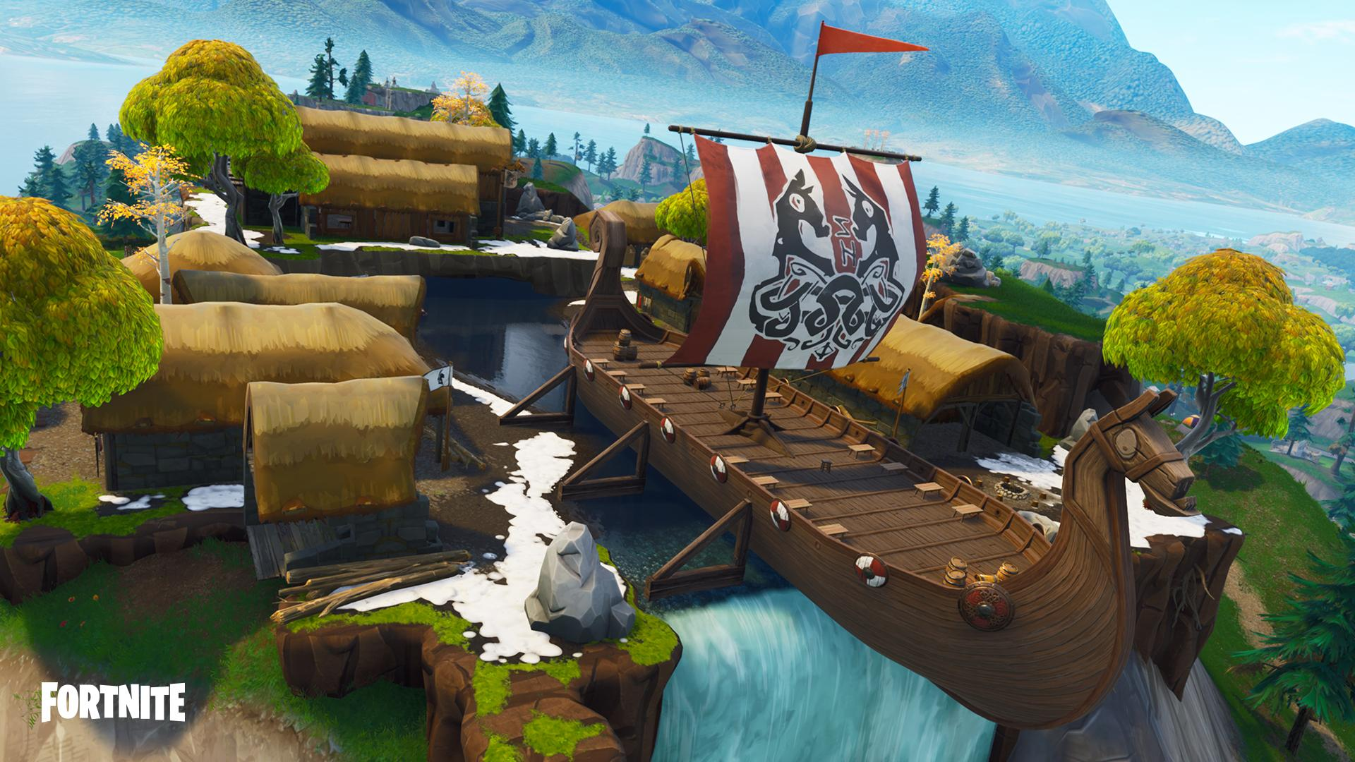 The sail of the ship has two runes on it
