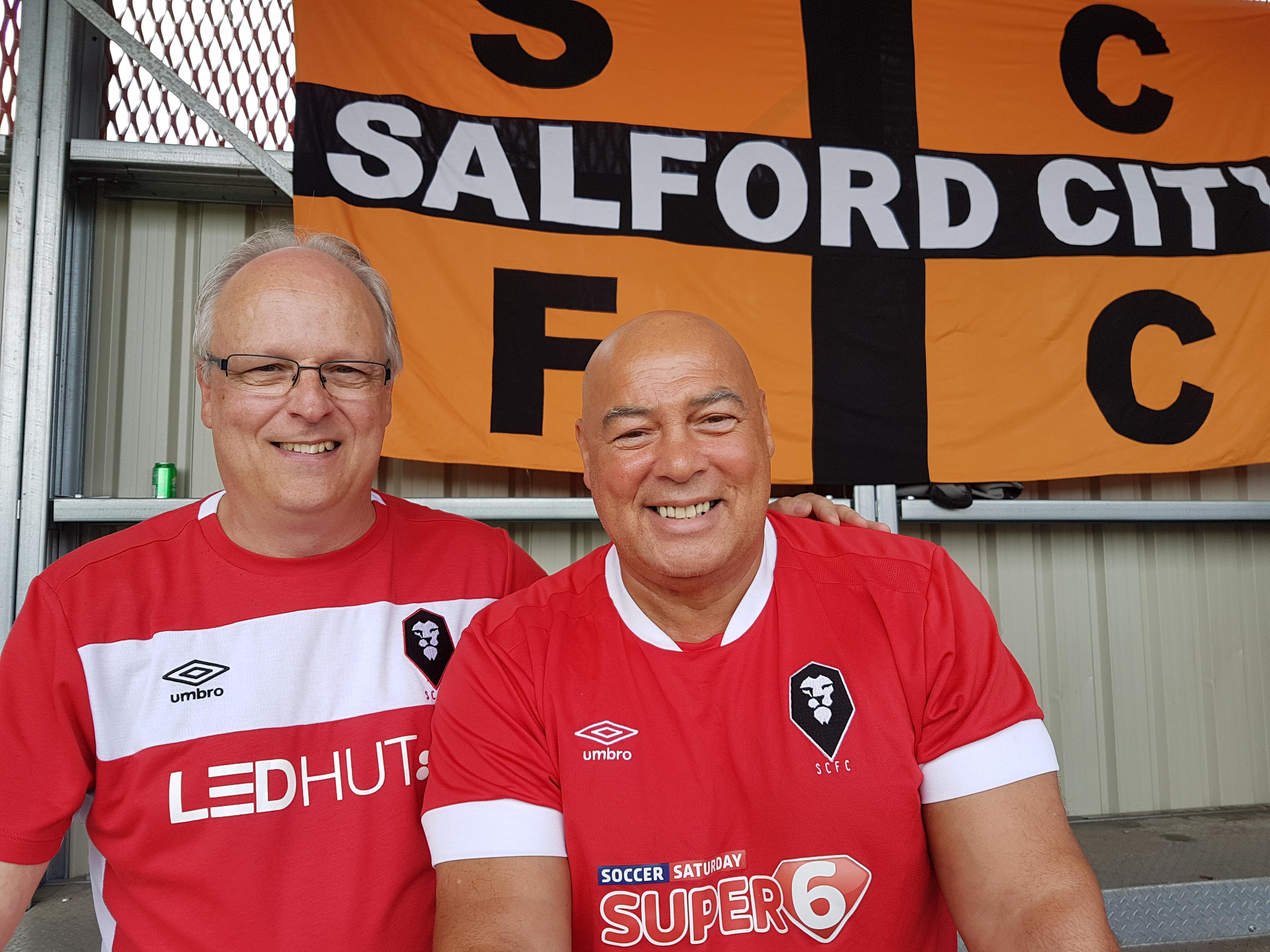 Martin Bester and Mike Willcock have differing experiences of Salford City down the years