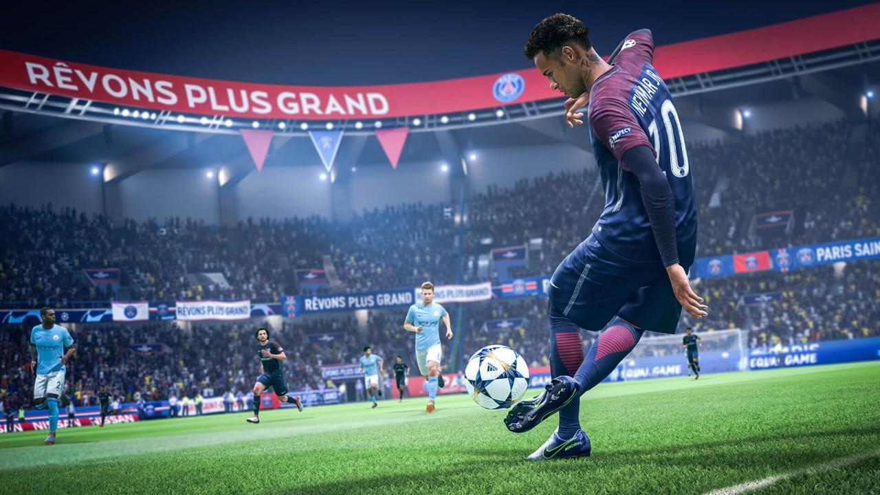 Neymar in action on FIFA 19