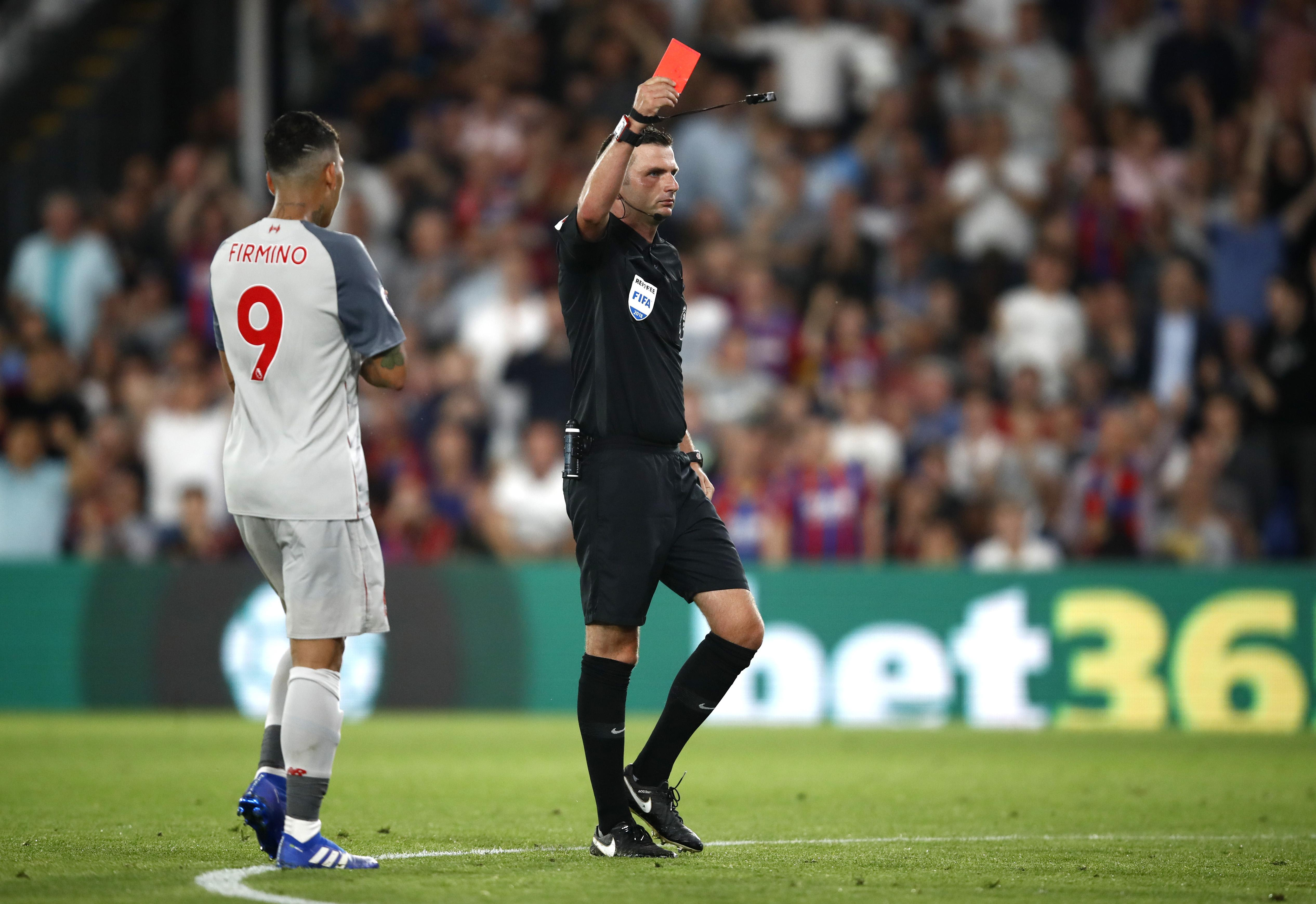 Leaving Michael Oliver with little choice but to send him off