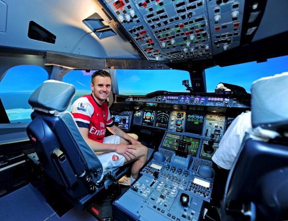 Probably a better pilot than footballer